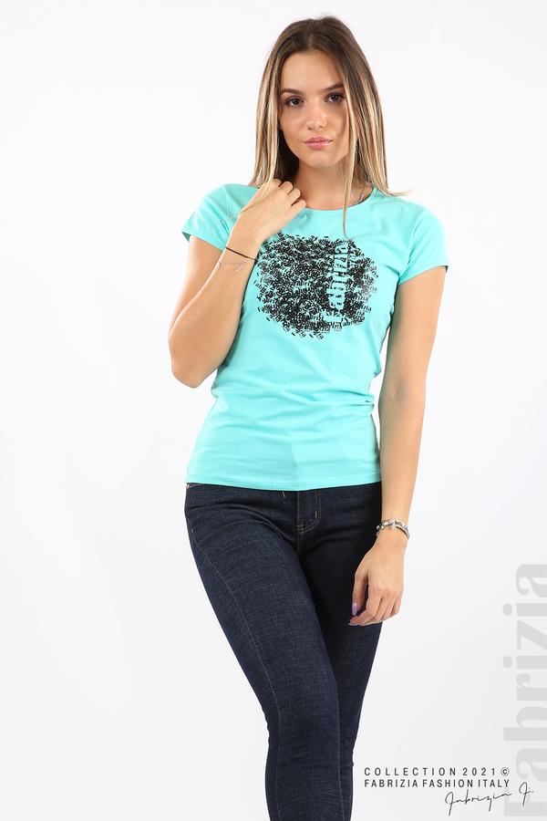 Дамска блуза Fabrizia аква 3 fabrizia