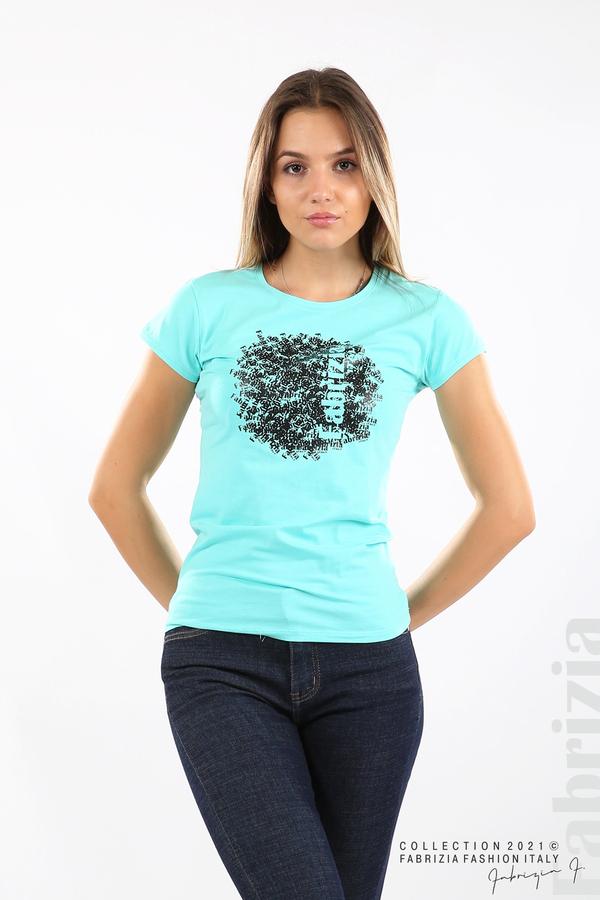 Дамска блуза Fabrizia аква 1 fabrizia