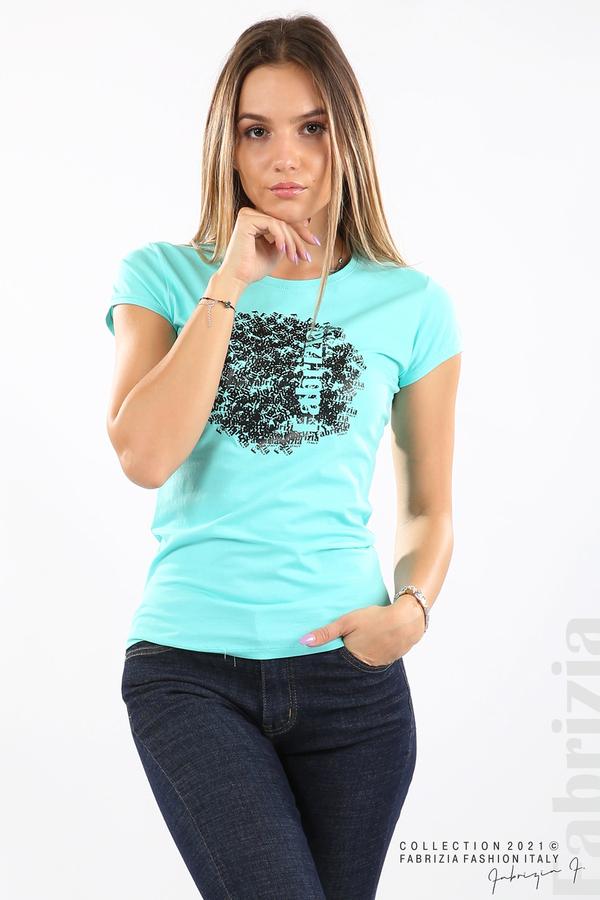Дамска блуза Fabrizia аква 2 fabrizia