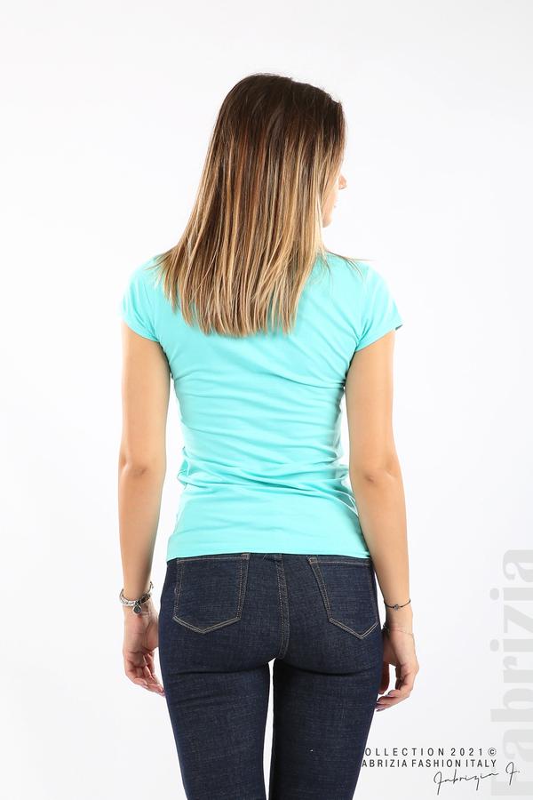 Дамска блуза Fabrizia аква 6 fabrizia