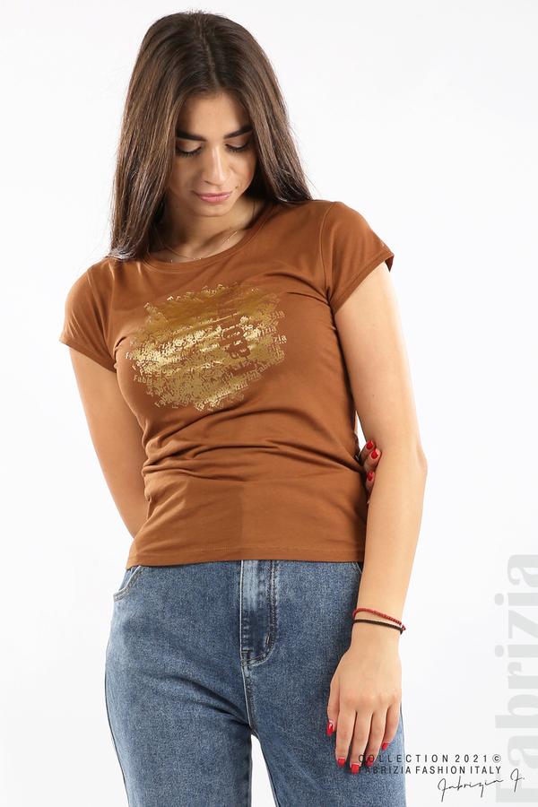 Дамска блуза Fabrizia кафяв 2 fabrizia