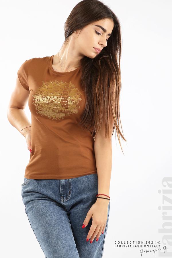 Дамска блуза Fabrizia кафяв 4 fabrizia