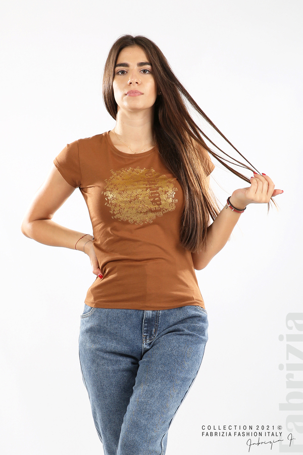 Дамска блуза Fabrizia кафяв 1 fabrizia