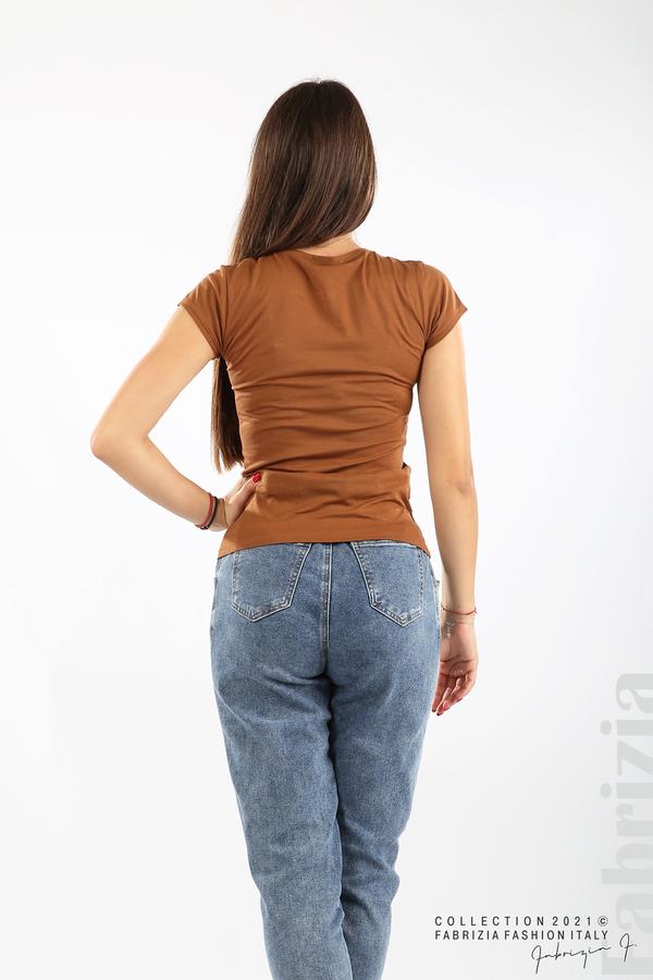 Дамска блуза Fabrizia кафяв 5 fabrizia