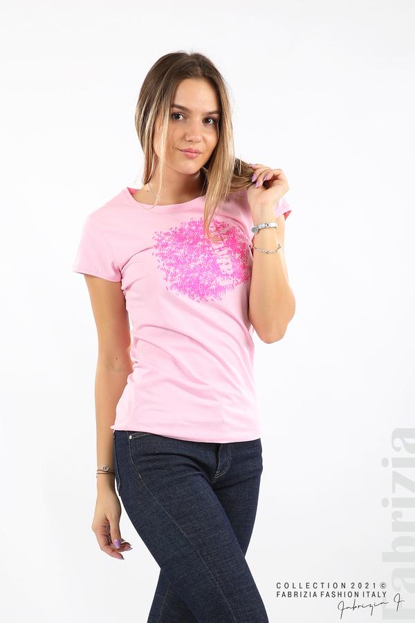 Дамска блуза Fabrizia розов 1 fabrizia