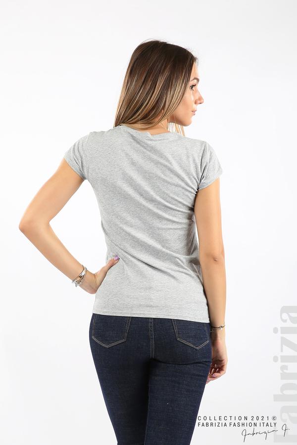 Дамска блуза Fabrizia сив 4 fabrizia