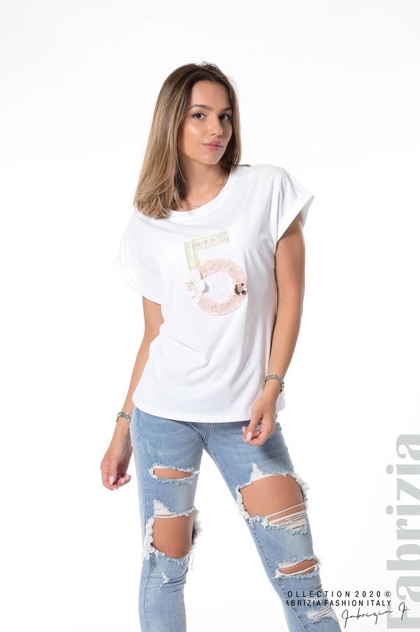 Блуза с декорация бял 2 fabrizia