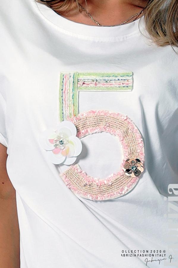 Блуза с декорация бял 3 fabrizia