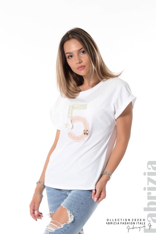 Блуза с декорация бял 1 fabrizia