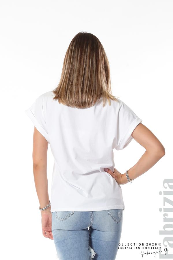 Блуза с декорация бял 5 fabrizia