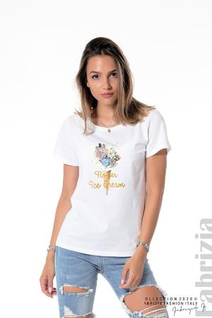 Блуза със сладолед от цветя