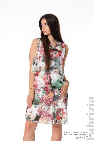 Флорална рокля с панделка на гърба