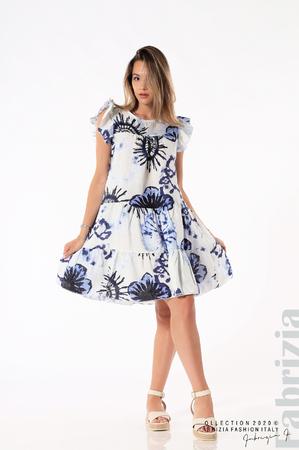 Дамска рокля със сини цветя