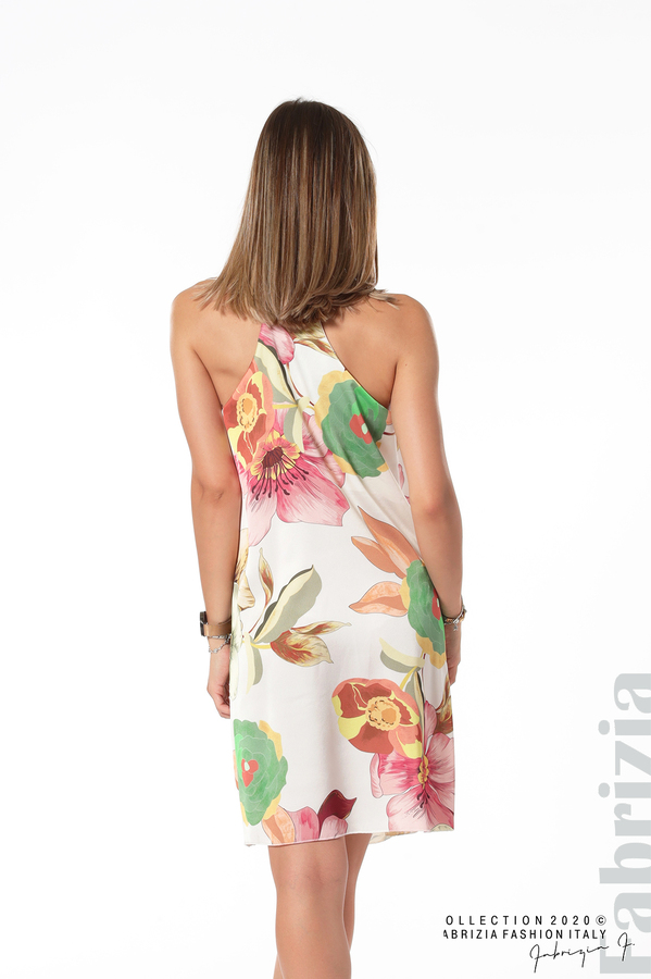 Ефирна рокля с тънки презрамки бял 4 fabrizia