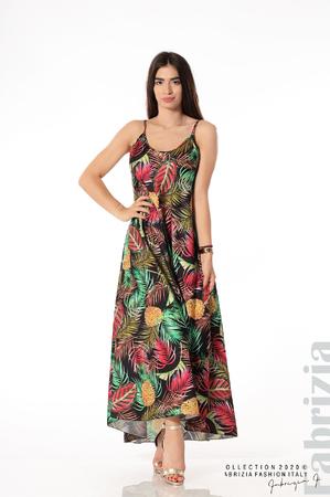 Дълга рокля с тънки презрамки