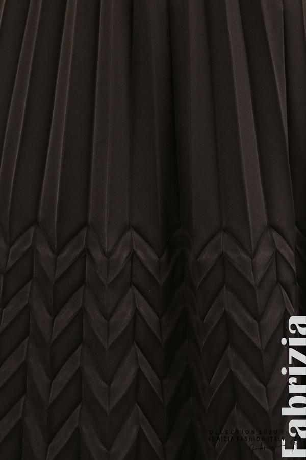 Плисирана рокля със зигзагообразни елементи-черен-6