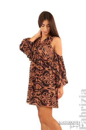 Къса рокля с изрязани рамене