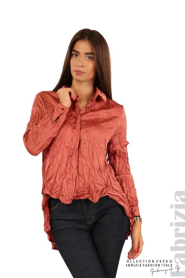 Риза с намачкан ефект-т.корал-1
