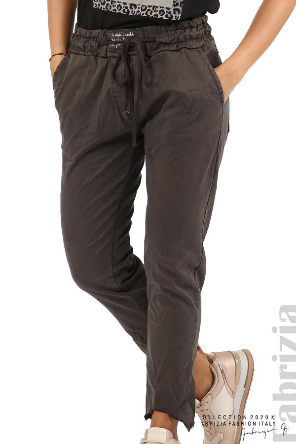 Спортен панталон с акцент на крачолите т.сив 1 fabrizia