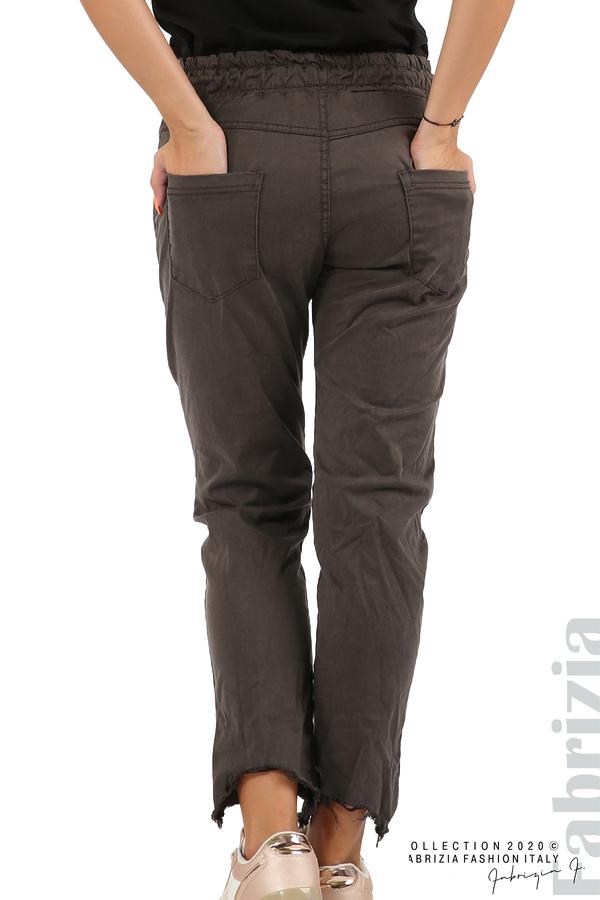 Спортен панталон с акцент на крачолите т.сив 7 fabrizia