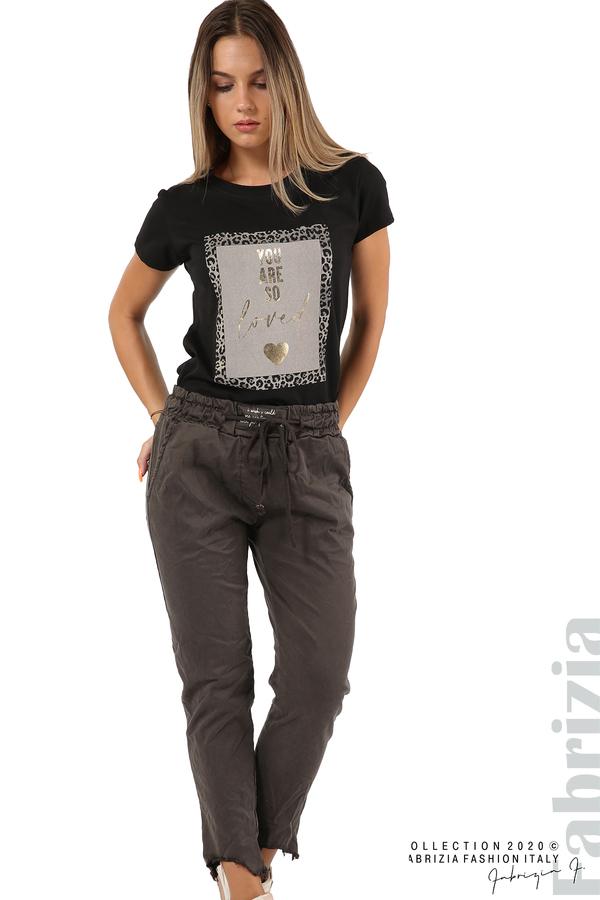 Спортен панталон с акцент на крачолите т.сив31 fabrizia