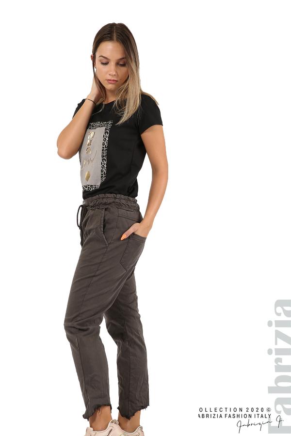 Спортен панталон с акцент на крачолите т.сив 5 fabrizia