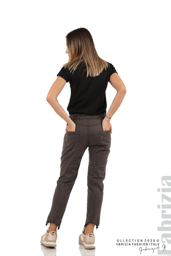 Спортен панталон с акцент на крачолите т.сив 6 fabrizia
