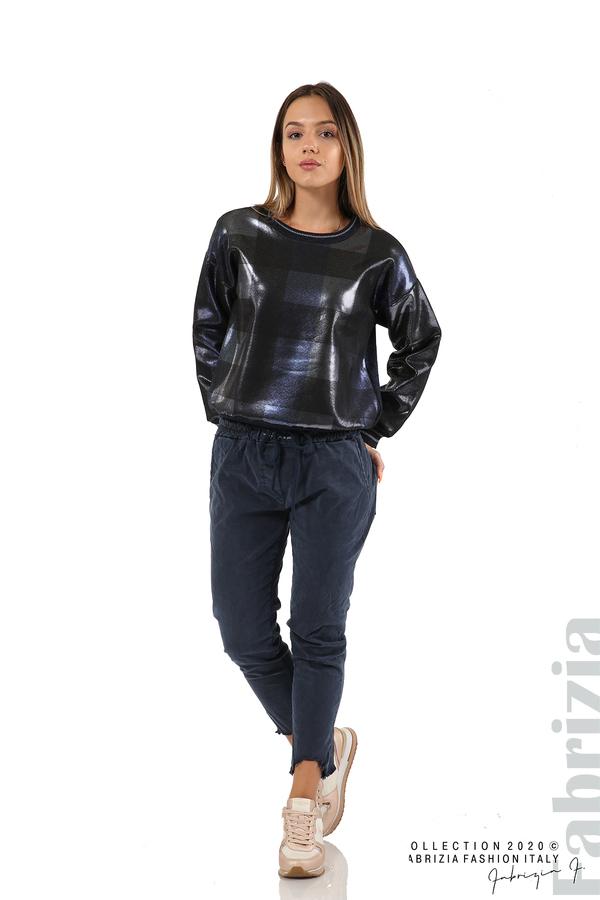 Спортен панталон с акцент на крачолите т.син 5 fabrizia