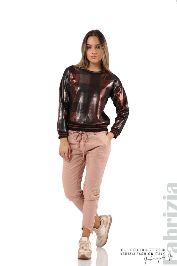 Спортен панталон с акцент на крачолите пепел от рози 1 fabrizia