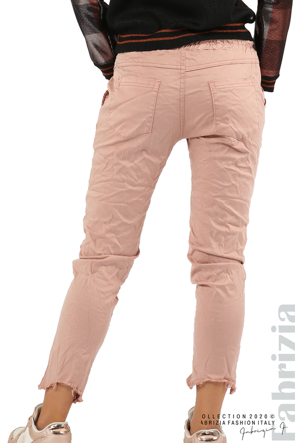 Спортен панталон с акцент на крачолите пепел от рози 7 fabrizia