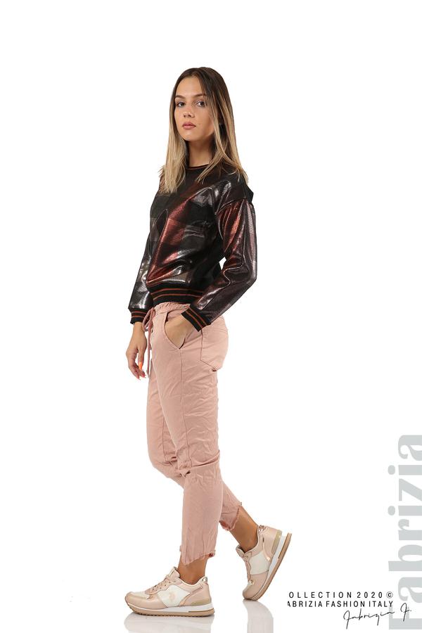 Спортен панталон с акцент на крачолите пепел от рози 4 fabrizia