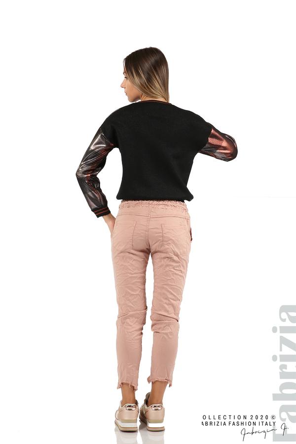 Спортен панталон с акцент на крачолите пепел от рози 6 fabrizia