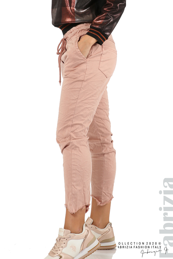 Спортен панталон с акцент на крачолите пепел от рози 5 fabrizia