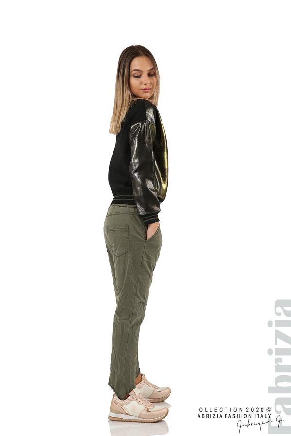 Спортен панталон с акцент на крачолите каки 4 fabrizia