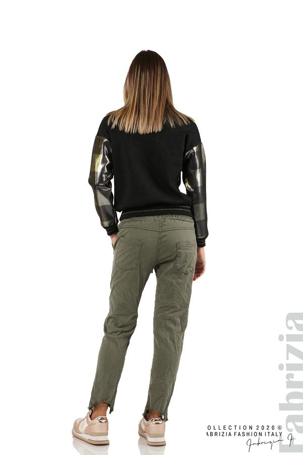 Спортен панталон с акцент на крачолите каки 6 fabrizia