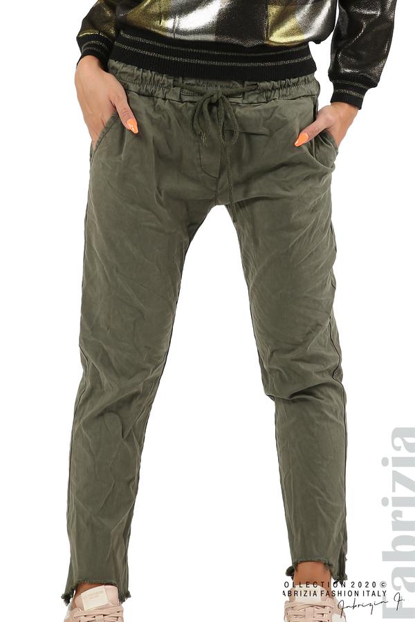 Спортен панталон с акцент на крачолите каки 2 fabrizia