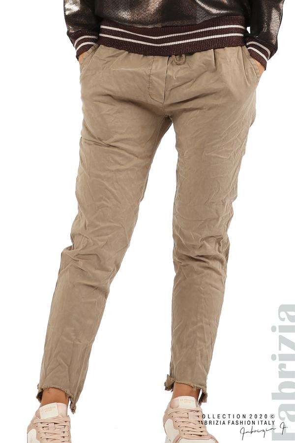 Спортен панталон с акцент на крачолите т.бежов 2 fabrizia