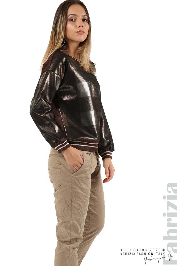 Спортен панталон с акцент на крачолите т.бежов 3 fabrizia