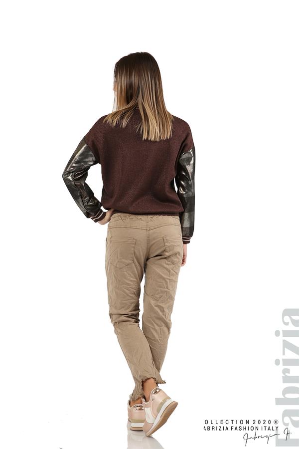 Спортен панталон с акцент на крачолите т.бежов 6 fabrizia