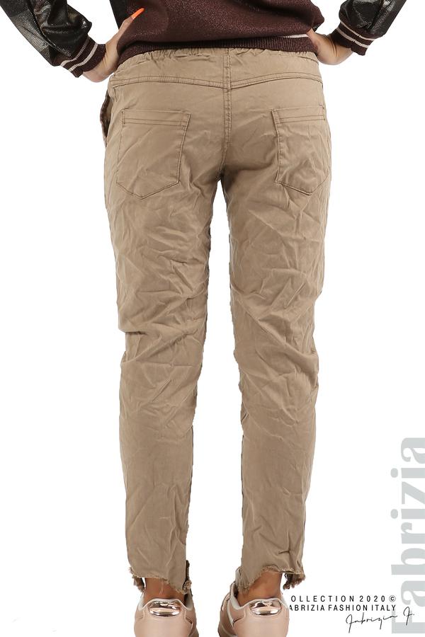 Спортен панталон с акцент на крачолите т.бежов 7 fabrizia