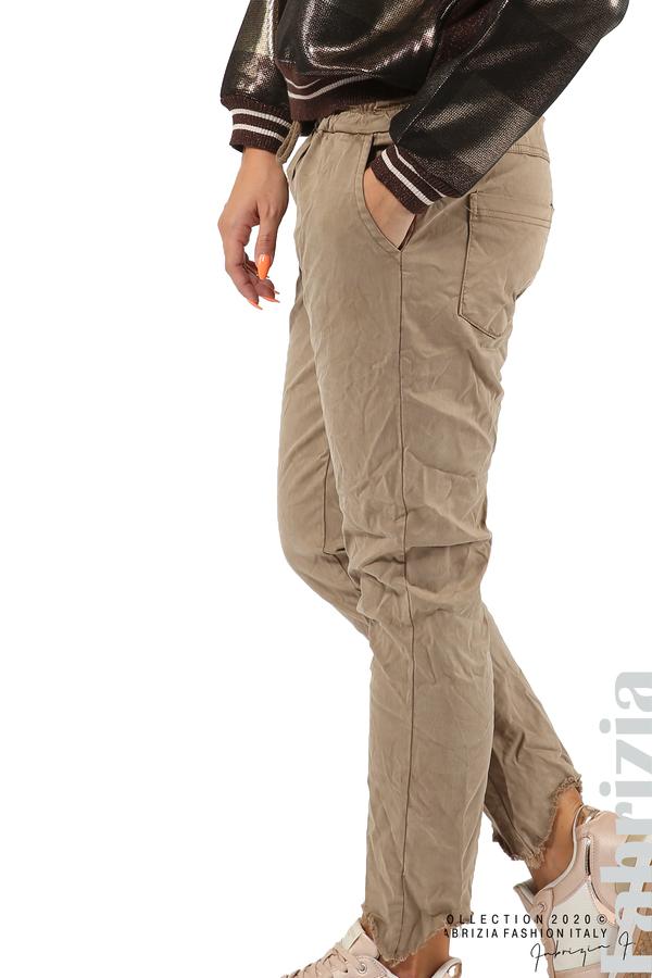 Спортен панталон с акцент на крачолите т.бежов 4 fabrizia