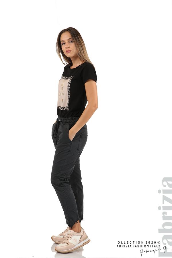 Спортен панталон с акцент на крачолите черен 5 fabrizia