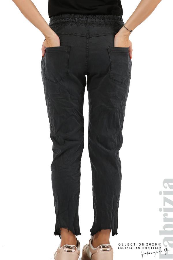 Спортен панталон с акцент на крачолите черен 7 fabrizia