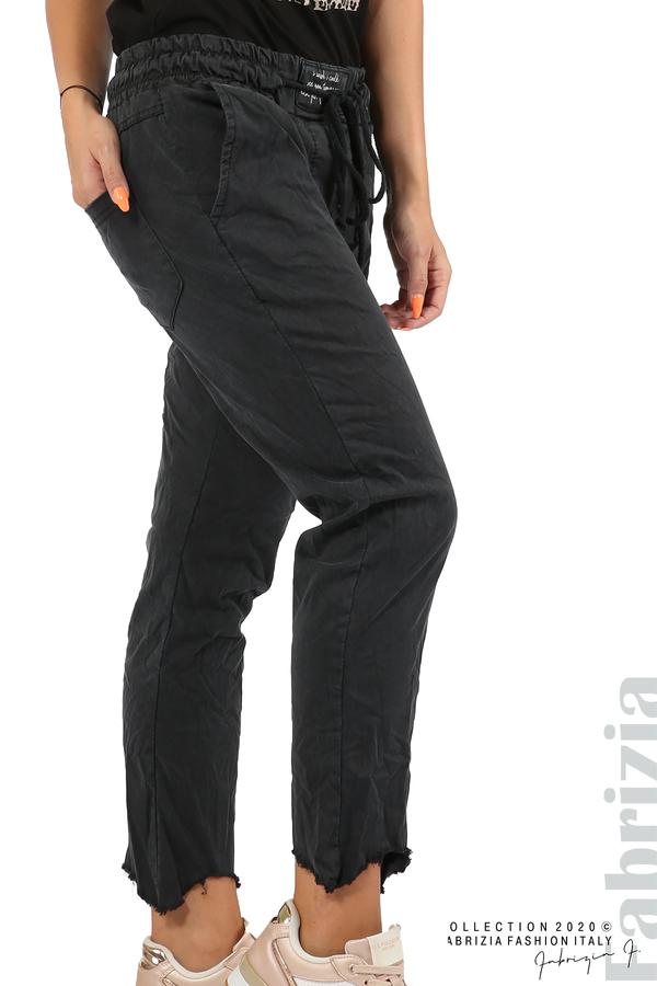 Спортен панталон с акцент на крачолите черен 4 fabrizia
