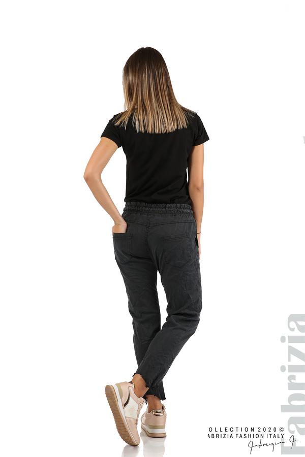 Спортен панталон с акцент на крачолите черен 6 fabrizia
