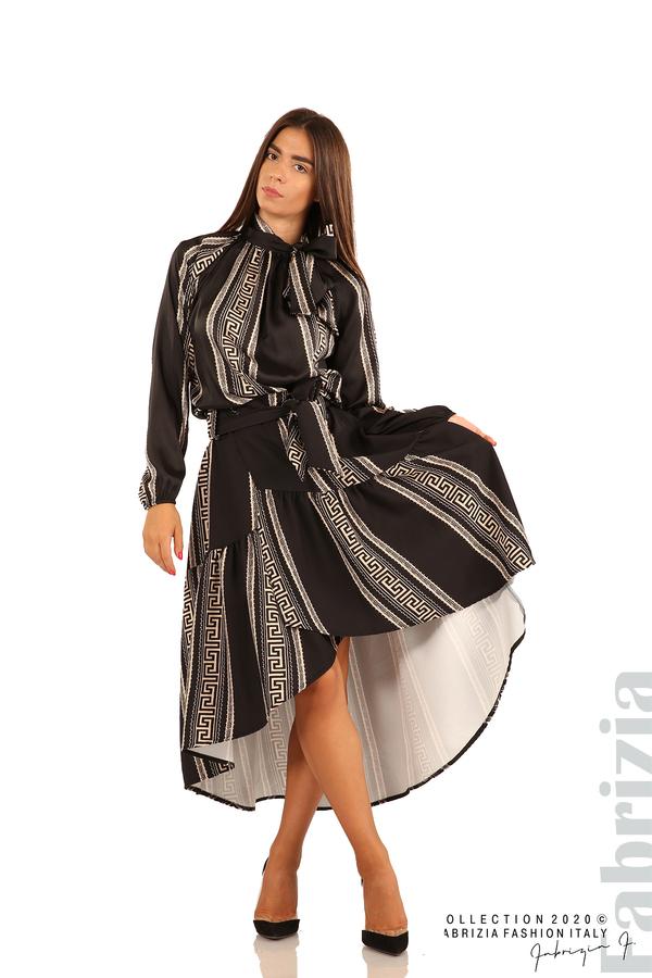 Дамска пола с с нестандартна кройка-черен-3