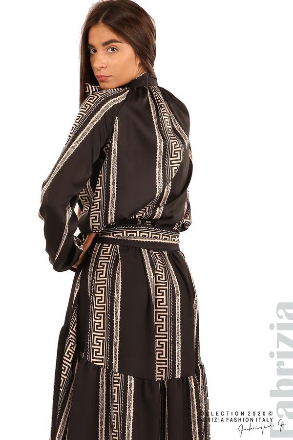 Дамска пола с с нестандартна кройка-черен-5