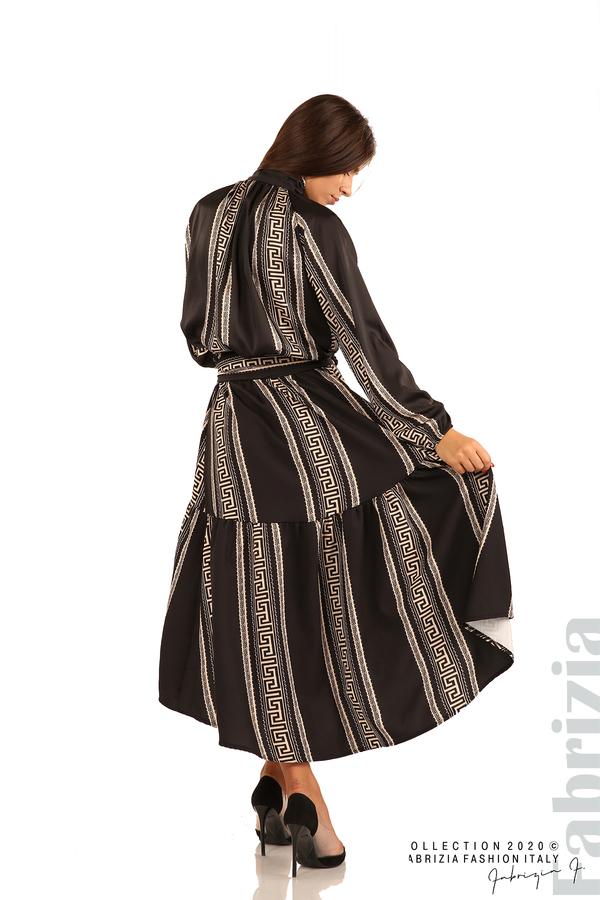 Дамска пола с с нестандартна кройка-черен-6