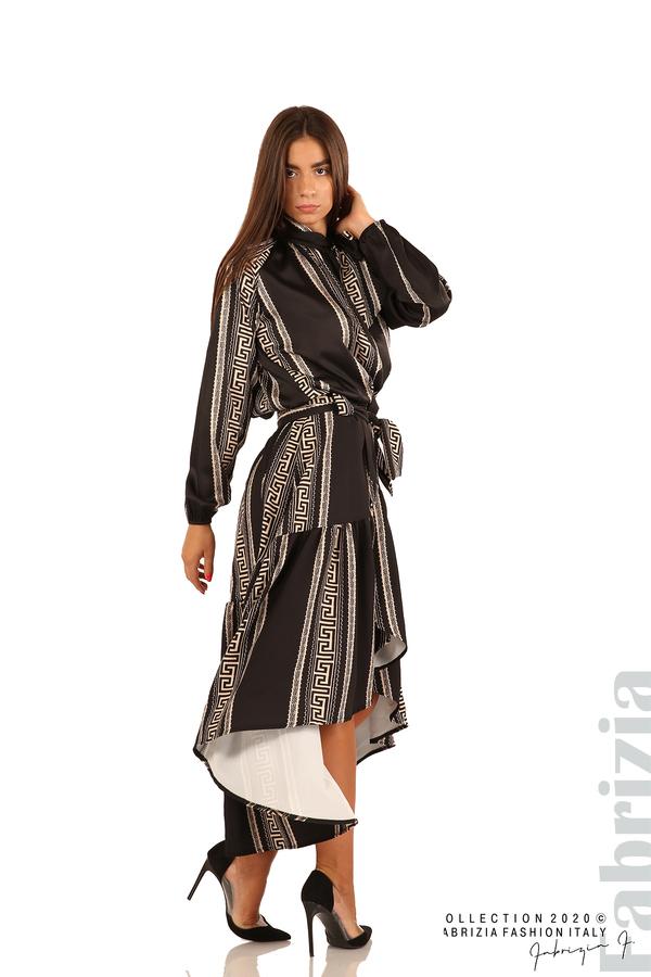 Дамска пола с с нестандартна кройка-черен-7