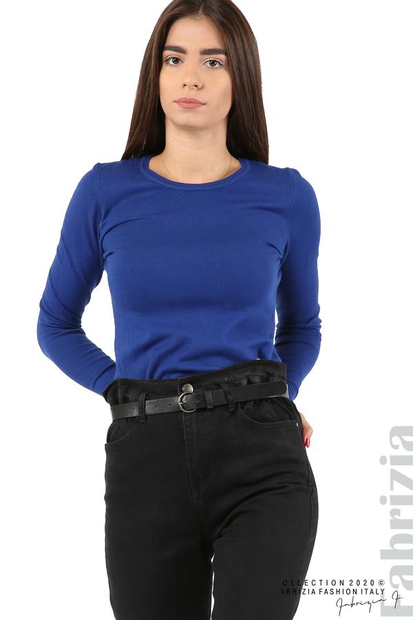 Черни дънки с висока талия и колан-черен-3